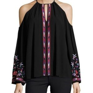 Parker Adelise Embroidered Bell Sleeve Blouse